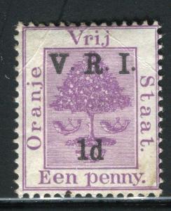 ORANGE FREE STATE;  1900 V.R.I. surcharge Mint unused 1d value,