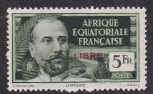 French Equatorial Africa # 120. Liberation Overprint, NH 1/3 Cat