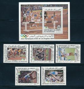 Mauritania - Los Angeles Olympic Games MNH Sports Set (1984)