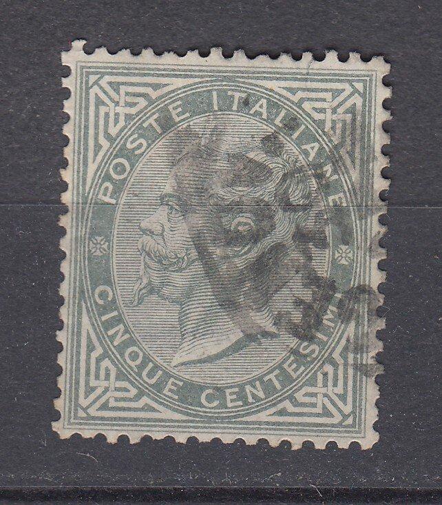 J29649, 1863-77 italy used #26 king