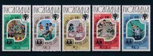 [60999] Nicaragua 1980 Silver ovp Olympic games Moscow Football Baseball MNH
