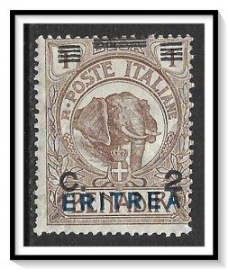 Eritrea #81 Elephant Blue Overprint NG