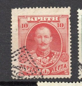 Crete 1905 Early Issue Fine Used 10l. NW-14362