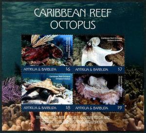 HERRICKSTAMP NEW ISSUES ANTIGUA Octopus Sheetlet