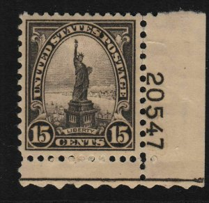 1931 Sc 696 MH Statue of Liberty plate number single Hebert CV $12.50
