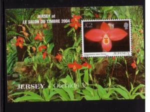 Jersey Sc 1129b 2004 Orchids Le Salon stamp sheet mint NH