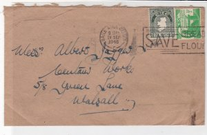 Ireland Eire 1946 B. A. Cliath Cancels TP Nolan Stamps Cover to Walsall Rf 34952