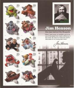 USA 2005 Jim Henson & Muppets - 11 Stamp Sheet - Scott #3944