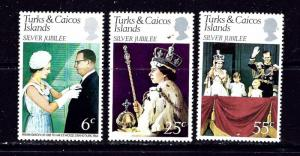 Turks and Caicos Is 321-23 MNH 1977 QEII Silver Jubilee