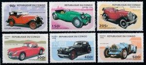 1996 Congo Brazzaville 1462-1467 Cars 9,00 €