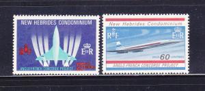 New Hebrides, British 130-131 Set MNH Planes