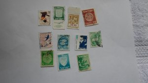 ISRAEL STAMPS MIXED CONDITION. LOT OF 10 STAMPS ( 12