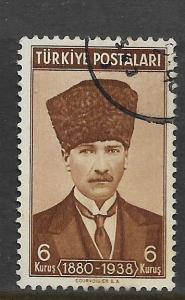 TURKEY, 836, USED, KEMAL ATATURK