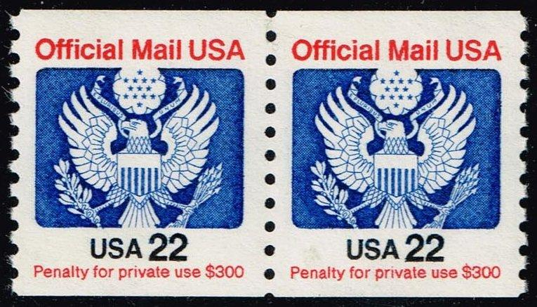 US #O136 Official Mail; MNH Pair (2.00)