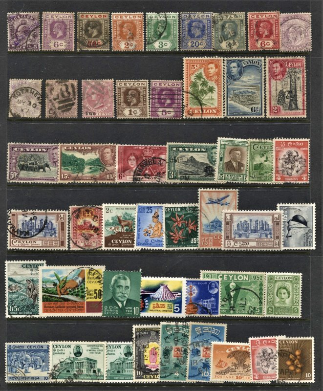 STAMP STATION PERTH Ceylon #49 Mint / Used Selection - Unchecked