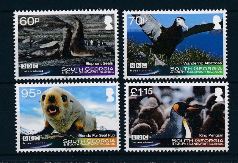 [28220] South Georgia 2011 Marine Life Birds Seals BBC Frozen Planet MNH