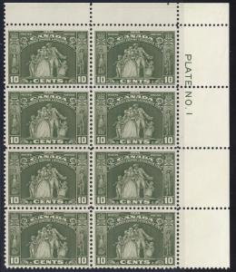 CANADA 209 VF NH Plte Blk 4+4 (111517)