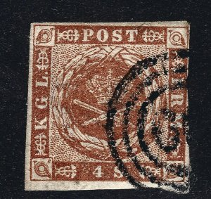 Denmark Nice SC #4a  F-VF Used w/toning SCV$15...Such a Deal!