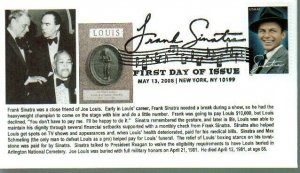 6° Cachets 4265 Frank Sinatra Boxer Joe Louis What a Nice Story on Cachet