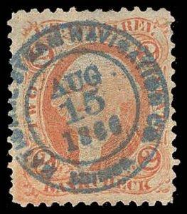U.S. REV. FIRST ISSUE R6c  Used (ID # 95266)