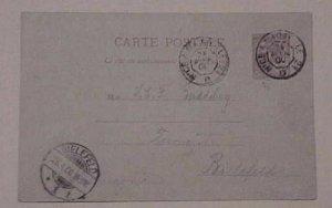 MONACO  POSTAL CARD TPO NICE A MARSEILLE B/S GERMANY