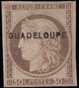 Guadeloupe 1891 SC 12 Mint SCV $350.00