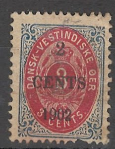 COLLECTION LOT # 1649 DANISH WEST INDIES # 24 1902 CV=$27.50 MINOR FAULT