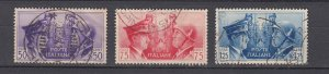 J29672, 1941 WWII italy used #416-8 hitler & mussolini