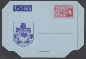 Bermuda mint circa 1982 20c QEII & George Somers & Ship Aerogramme
