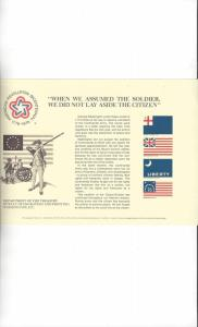 US Dept. of the Treasury BEP Souvenir Card B37 Bicentennial 1976