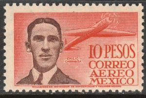 MEXICO C178, $10P, CAPT. EMILIO CARRANZA, PILOT. MINT, NH. VF.
