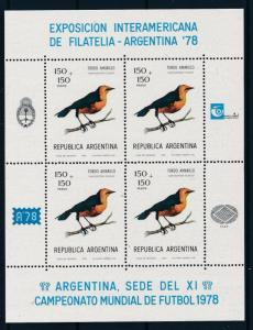 [60761] Argentina 1978 Birds Oiseaux World Cup Soccer Football on label MNH