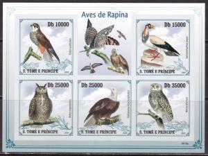 Sao Tome and Principe, Fauna, Birds of Prey imperf. MNH / 2009