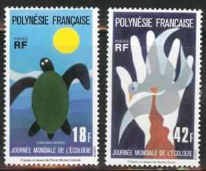 French Polynesia Scott 289-290 MNH** 1976 Ecology set CV$31