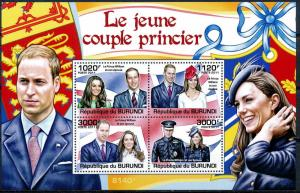 Burundi MNH S/S Prince William & Kate 2011 SCV 15.00