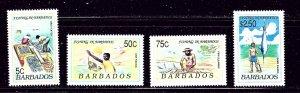 Barbados 799-802 MH 1991 Fishing