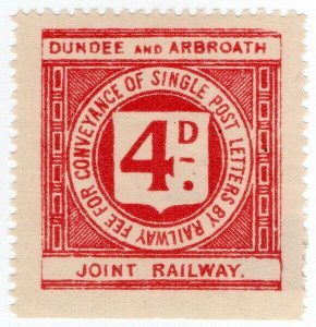 (I.B) Dundee & Arbroath Joint Railway : Letter Stamp 4d