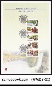 SOUTH AFRICA - 1998 KWAZULU-NATAL / TOURISM - 5V STRIP - BROCHURE FDI
