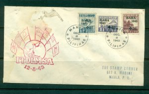 Japanese Occupation #16, Sc# NB5-7. 1943 Censored FDC Cover.