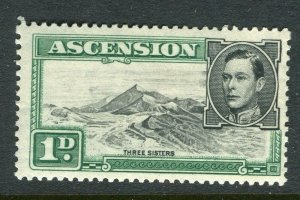 ASCENSION ISLAND; 1938 early GVI issue fine Mint hinged PERF 13.5, value 1d