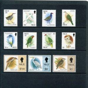 Niue 1992 QEII Birds set complete superb MNH. SG 718-729. Sc 604-614.
