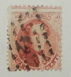 Belgium 16f. 40c Carmine rose, perf. 12.5x13.5, used