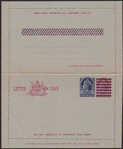AUSTRALIA QE 4d changed to 5d lettercard unused.............................3711