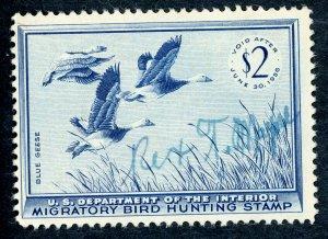 #RW22 – 1955 $2.00 Blue Geese. Used.