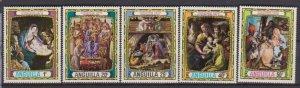 1970 Anguilla Scott 114-118 Christmas MNH