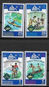 1975 French New Hebrides 216-219 Boy Scout Jamboree C/S MNH SCV$11.65