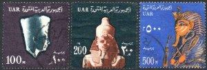 EGYPT-1964 High Value Set Sg 783-785 GOOD USED V40619