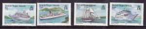 Virgin Is.-Sc#524-7-unused  NH set-Cruise Ships-id6-1986-