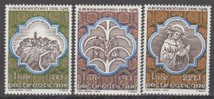Vatican City #558-60 MNH VF (ST1679)