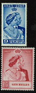 Seychelles SC# 151 and 152, Mint Hinged, Hinge Remnant - S11666